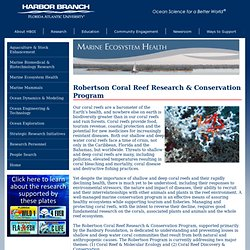 Robertson Coral Reef Research & Conservation Program