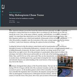 Why Robespierre Chose Terror