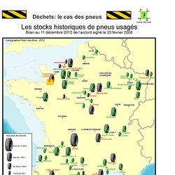 bonus : carte de France des décharges sauvages pneu