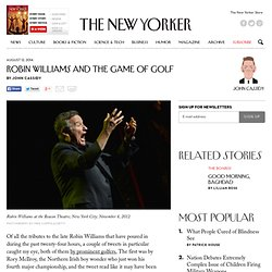 Robin Williams and the Game of Golf - The New Yorker