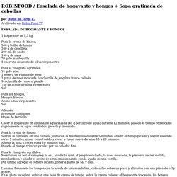 ROBINFOOD / Ensalada de bogavante y hongos + Sopa gratinada de cebollas - David de Jorge