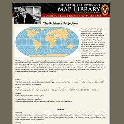 Robinson Map Library - Robinson Projection