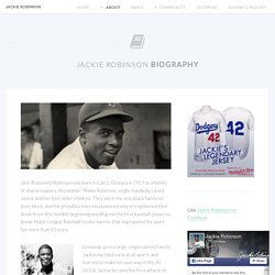 Jackie Robinson - The Official Website
