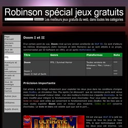 Doom I et II - Comme Robinson dans la crise spécial jeux gratuits