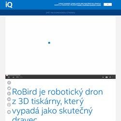 Intel iQ – RoBird je robotický dron z3D tiskárny, který vypadá jako skutečný dravec