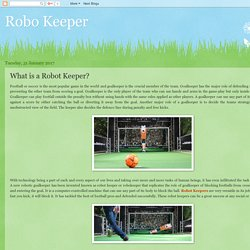 Robo Keeper: What is a Robot Keeper?
