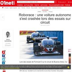 Roborace : une voiture autonome s'est crashée lors des essais sur circuit