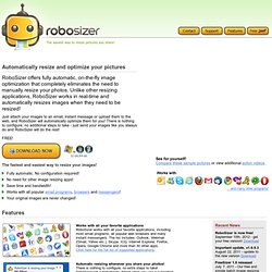RoboSizer automatic image resizing software for JPG and other photo formats.