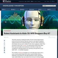 In the future your sales assistant could be a robot