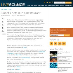 Robot Chefs Run a Restaurant