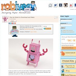Pop Up Robot to Download and Make
