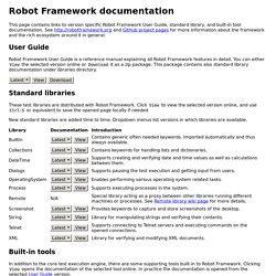 Robot Framework documentation