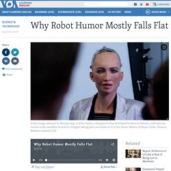 Why Robot Humor Mostly Falls Flat