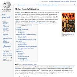Robot dans la littérature