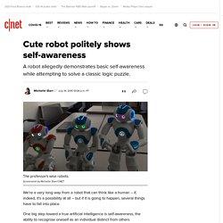 Cute robot politely shows self-awareness