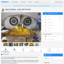 Wall-E Robot - Fully 3D Printed by ChaosCoreTech