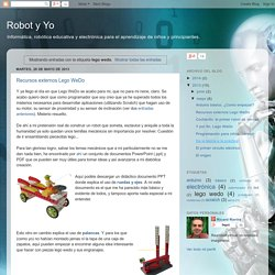 Robot y Yo: lego wedo
