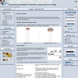 Projet Robotek - Capteurs - Capteur de lumière