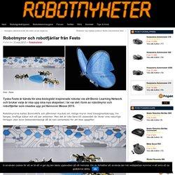 Robotmyror och robotfjärilar från Festo