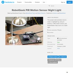 RobotGeek PIR Motion Sensor Night Light
