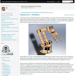Robotic Arm – Hardware