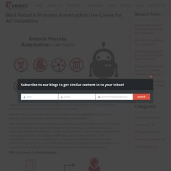 Best Robotic Process Automation Use Cases for All Industries