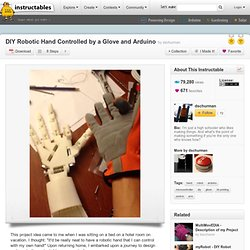 DIY Robotic Hand Controlled by a Glove and Arduino - All