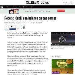 Robotic 'Cubli' can balance on one corner