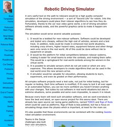 Robotic Driving Simulator
