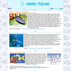 the website dedicated to robotic fish