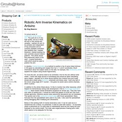 Robotic Arm Inverse Kinematics on Arduino « Circuits@Home