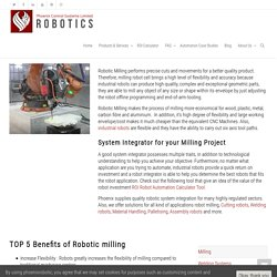 Contact Phoenix Control Systems for Robotic Milling