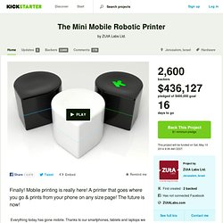 The Mini Mobile Robotic Printer by ZUtA Labs Ltd.