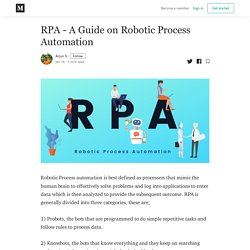 RPA - A Guide on Robotic Process Automation