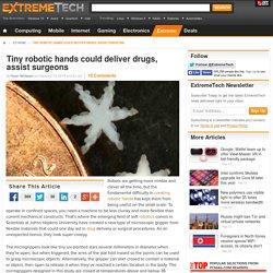 Tiny robotic hands could deliver drugs, assist surgeons