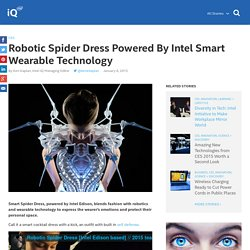 Robotic Spider Dress Powered By Intel Smart Wearable Technology