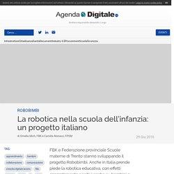 La robotica nella scuola dell'infanzia: un progetto italiano
