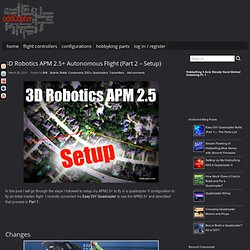 3D Robotics APM 2.5+ Autonomous Flight (Part 2 – Setup) » Odd Copter - Nightly