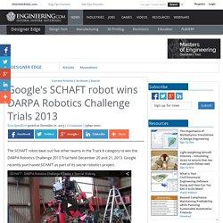 Google's SCHAFT robot wins DARPA Robotics Challenge Trials 2013