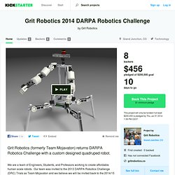 Grit Robotics 2014 DARPA Robotics Challenge by Grit Robotics
