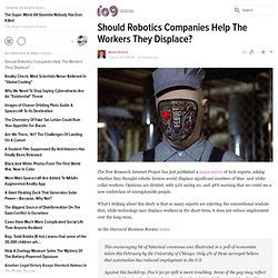 Should Robotics Companies Help The Workers They Displace?