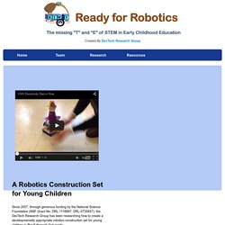 KIWI - A robotics construction set for young children