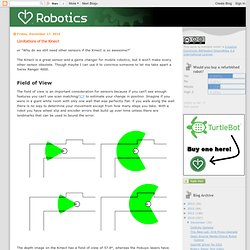 I Heart Robotics: Limitations of the Kinect