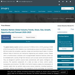 Robotics Market Size, Growth, Trends, Analysis and Forecast 2018-2023