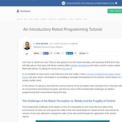 Robotics Programming Tutorial: How to Program a Simple Robot