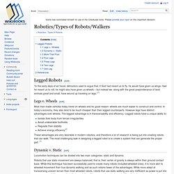 Robotics/Types of Robots/Walkers