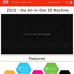 AIO Robotics' ZEUS - 3D Scanner/Printer