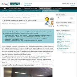 Codage et robotique à l'école et au collège - L'Atelier Canopé 78 – Marly-le-Roi