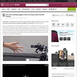 Une main robotique gagne à tous les coups à pierre-feuille-ciseaux