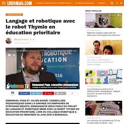 Langage et robotique avec le robot Thymio en éducation prioritaire – Ludovia Magazine